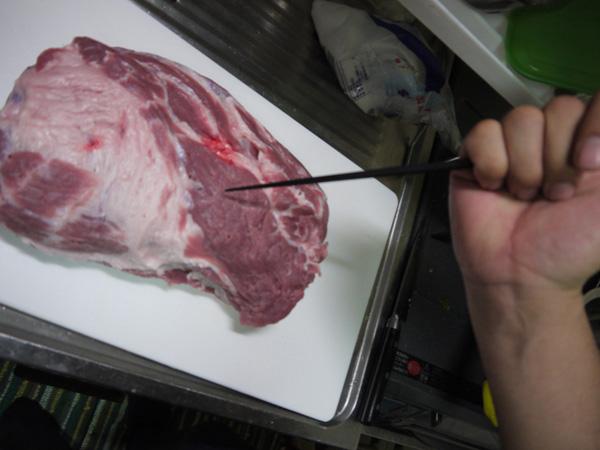 豚肩ロース 箸でブスブス