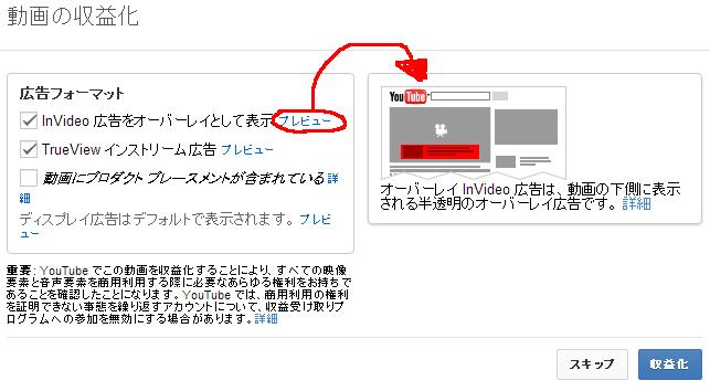 youtube 収益化(広告内容)