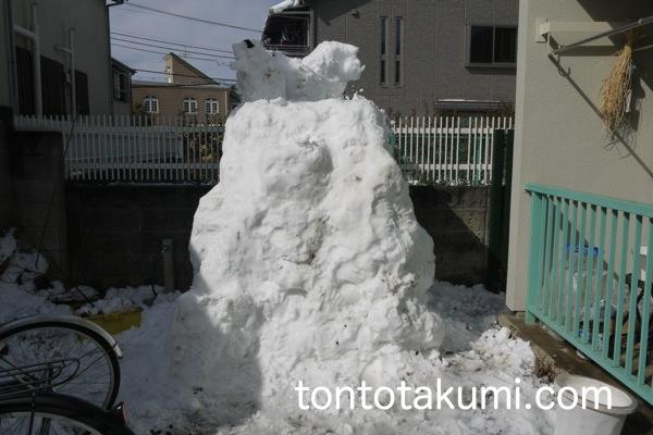 雪山の完成
