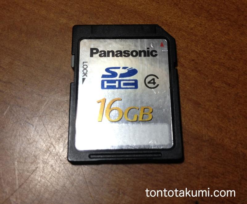 PanasonicのSDカード