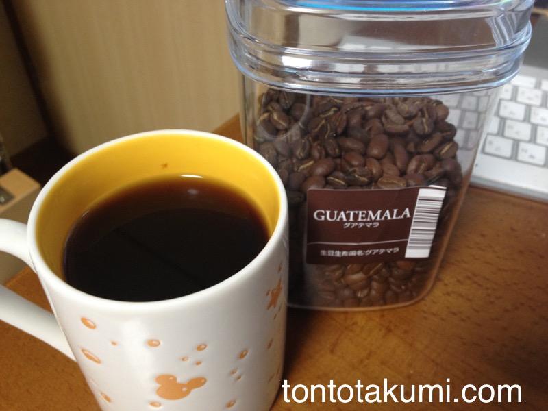 グアテマラ フレンチのコーヒー
