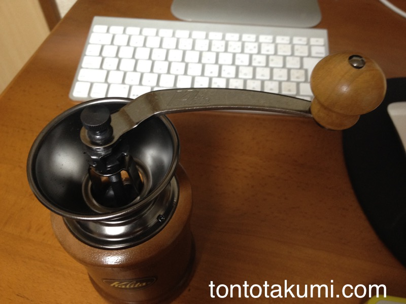 Kalitaのコーヒーミル(上から)